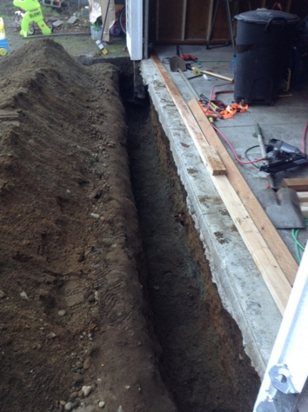 Garage Conversion Footing Stemwall Issue Concrete