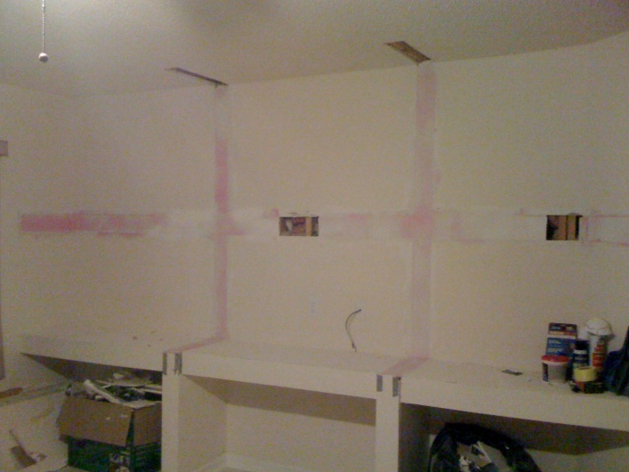 Removing Built In Drywall Shelves To Wall Mount Tv