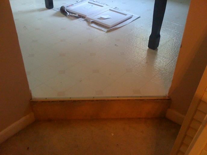 Installing Hardwood In Sunken Living Room Photo 2