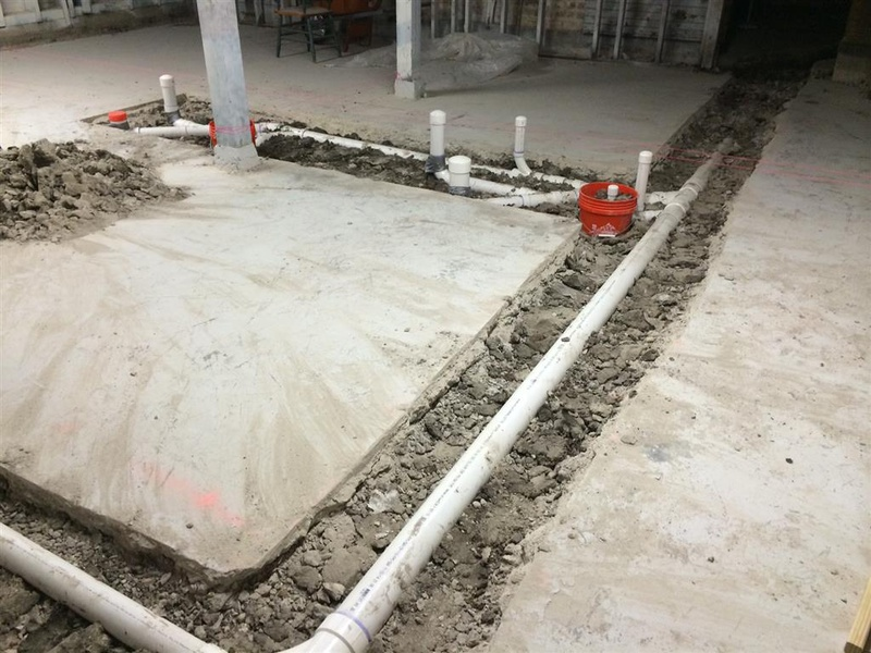 Concrete Slab Repair For Plumbing Trench Concrete Stone