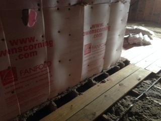 Cold Floor In Bathroom Above Garage Insulation Diy