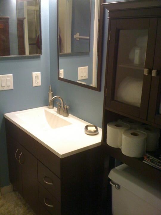 New Bathroom Vanity Lights: New Bathroom Vanity & Paint