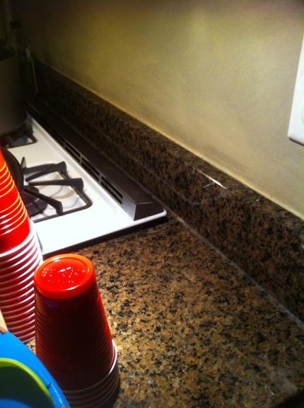 Help Mosaic Backspash With 6 Inch Granite Plus Slide In