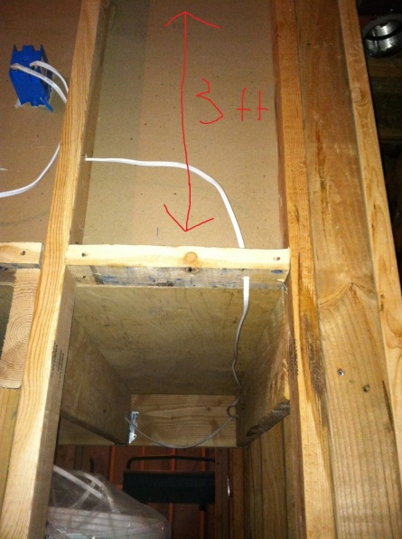 Cutting Subfloor of basement landing to get 12ft sheets of drywall down-photo.jpg