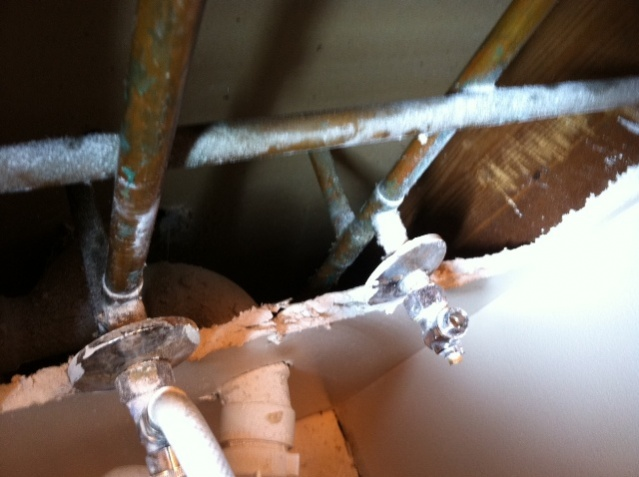 Trying to secure pedestal sink to wall-photo.jpg