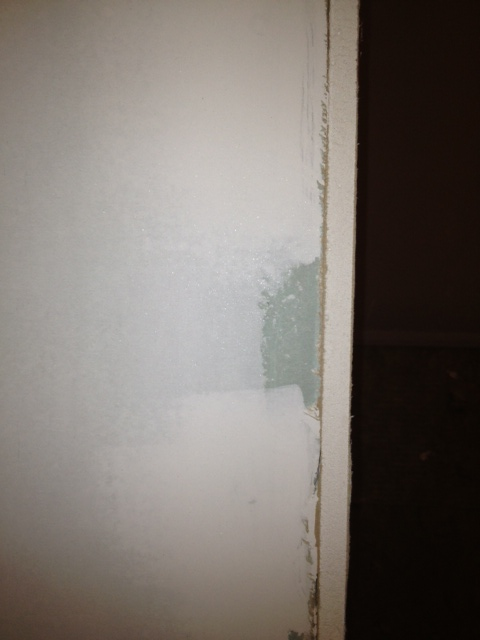 Drywall near bottom of shower pan-photo.jpg