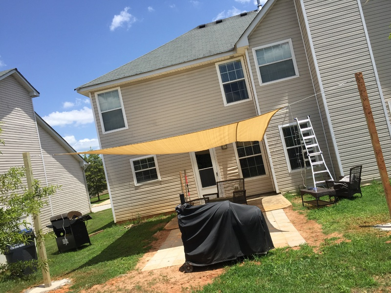 Shade Sail Uneven Landscaping Amp Lawn Care Diy Chatroom