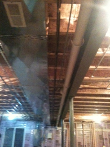 Frame around duct work and beam-photo-duct-beam.jpg
