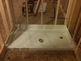 Installing Pre Formed Shower Base Pan Plumbing Diy