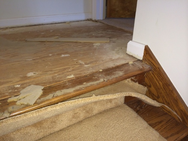 Switching From Carpet To Hardwood On Stairs Photo3