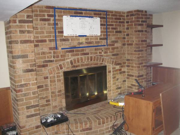TV Mount Onto Brick Fireplace Brick Integrity Building