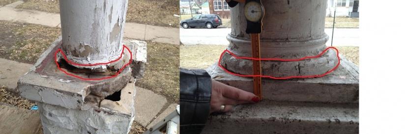 Repairing Replacing Old Porch Column Diy Home Improvement Forum