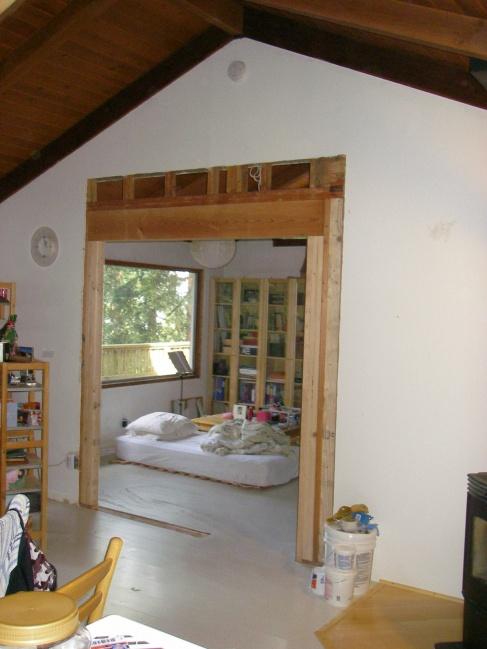 Support Vaulted Ceiling While Enlarging Doorway Building