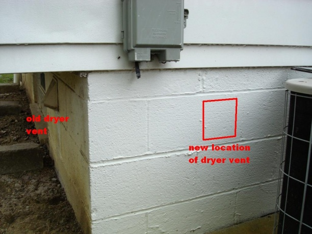 New Hole For Dryer Vent In Cinder Blocks Picb Jpg