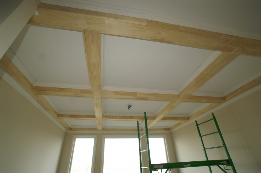 wood laminate coffered ceiling kits   Coffered Ceiling - Project Showcase - DIY Chatroom Home ...