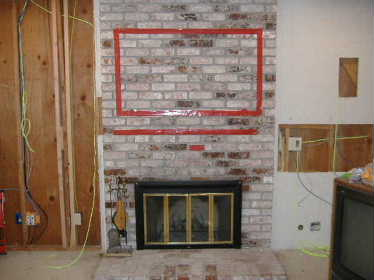 Fireplace Brick Veneer Tv Mounting Building Construction Diy Chatroom Home Improvement Forum
