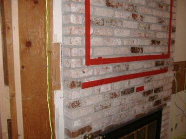 Fireplace Brick Veneer TV Mounting - Building ...