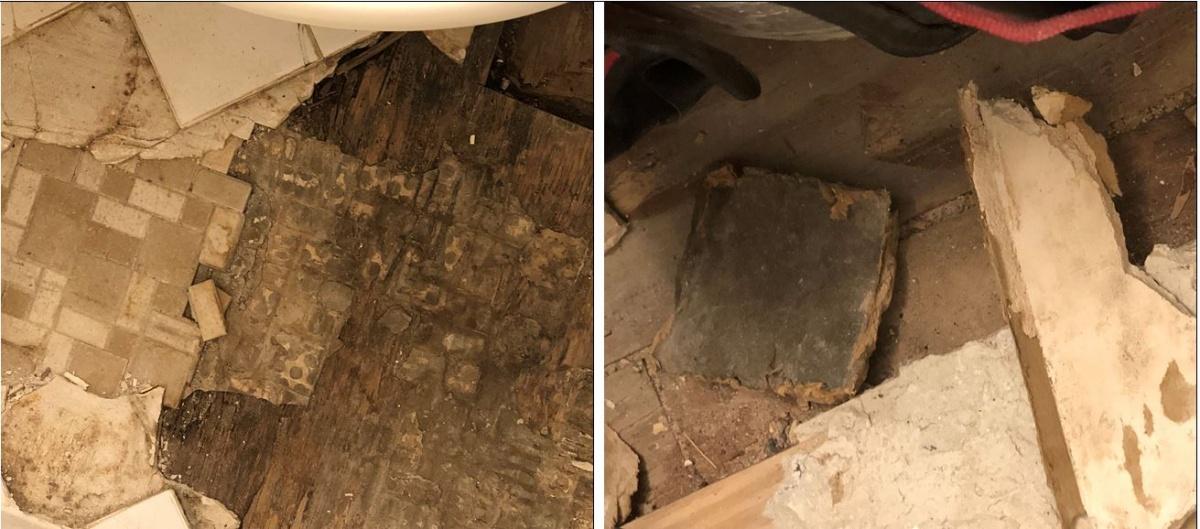 floor tiles asbestos  flooring  diy chatroom home