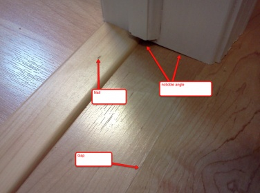 Laminate T Molding Nailed Down Diy, What Is T Molding For Laminate Flooring