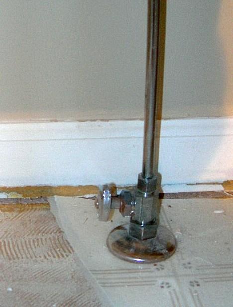Toilet Water Supply Shut Off Valve Plumbing Diy Home
