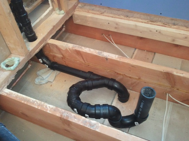 plumbing for shower and steam