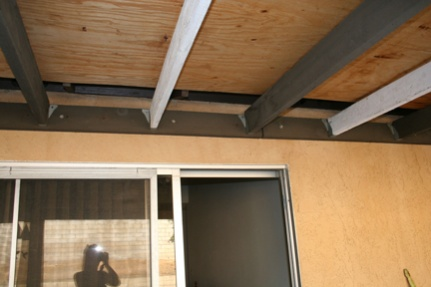 ... Patio Cover Materials And Methods Plywood Ceiling ...