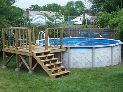 Small Pool Deck Diy Home Improvement, How To Build A Small Deck Around An Above Ground Pool