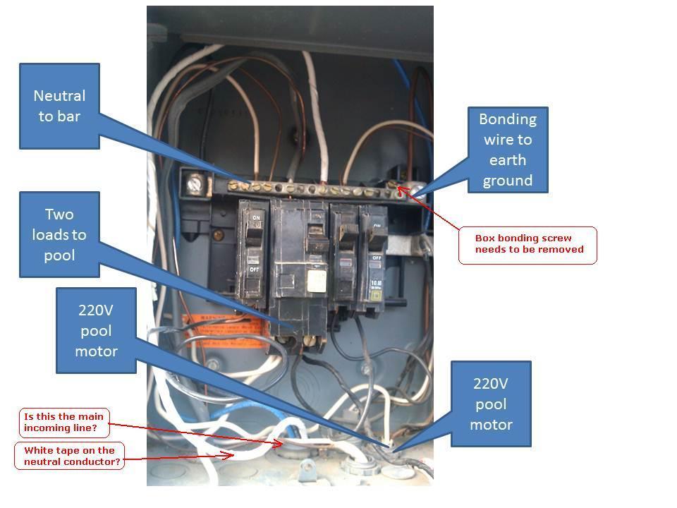 pool subpanel electrical diy chatroom home improvement forum rh diychatroom com 100 Amp Sub Panel Wire Sub Panel W