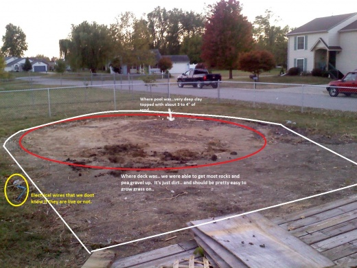 Growing grass after removing an above ground pool - Above ground swimming pool removal ...