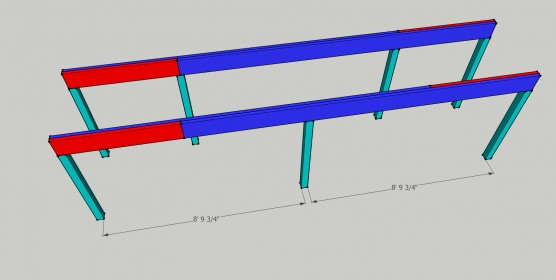 How far can I span 2 - 2 x 10's between columns?-porch-beam.jpg