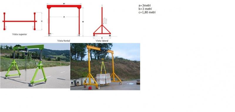 Steel frame gantry crane chain hoist 2 ton-portale-officina.jpg
