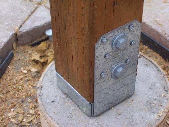 Pergola Posts A Little Wobbly Building Amp Construction