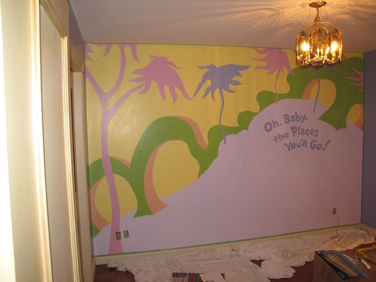 Nursery mural - how to paint even black lines?-prangleynursery.jpg