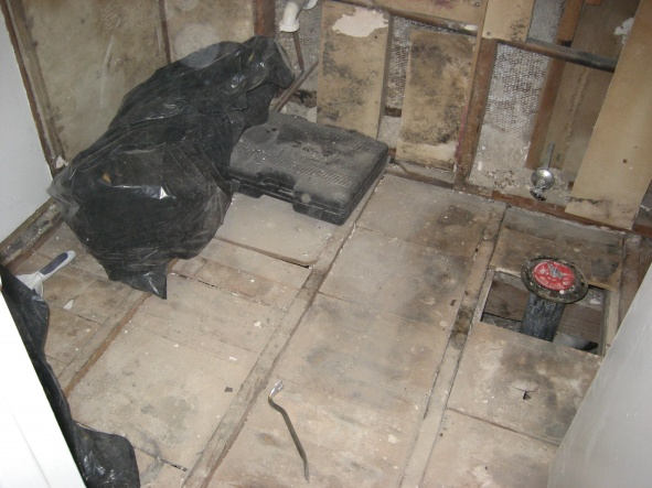 ... Bathroom Subfloor Pier And Beam Foundation Preping House Resale 316