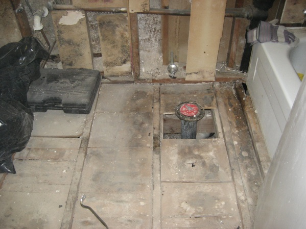 Bathroom Subfloor Pier And Beam Foundation Preping House Resale 317 ...
