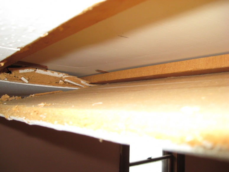 Old Ceiling Tiles Remove Repaint Random July 2008 085