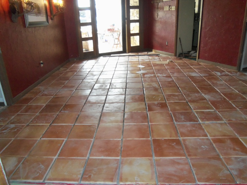 tips on laying pre sealed saltillo tile