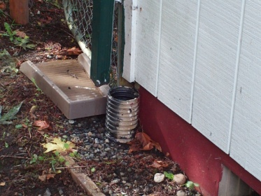 Water Overflow From Downspout Drain Building