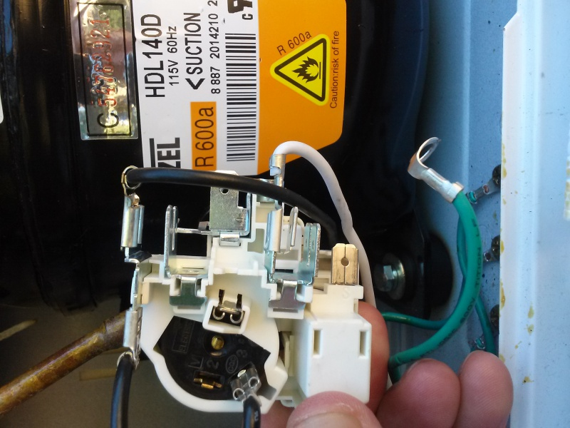 Chest Freezer- Replacing Start Relay - Appliances
