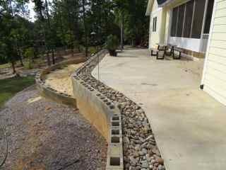 Block Retaining Wall Fill Dry Quikrete Concrete Stone
