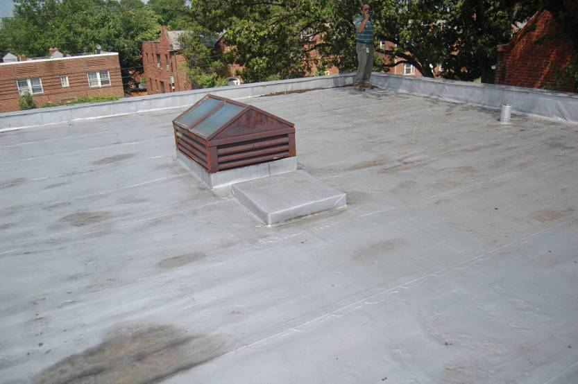 Flat Roof Repair  Question On Roofing Type Roof Mellon Street.