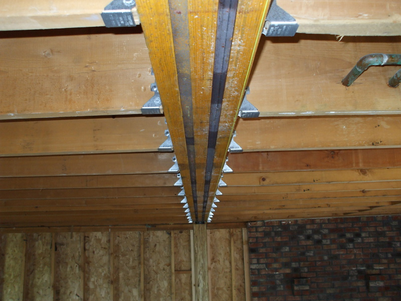 Gaps Between Joists And Lvl Beams Building