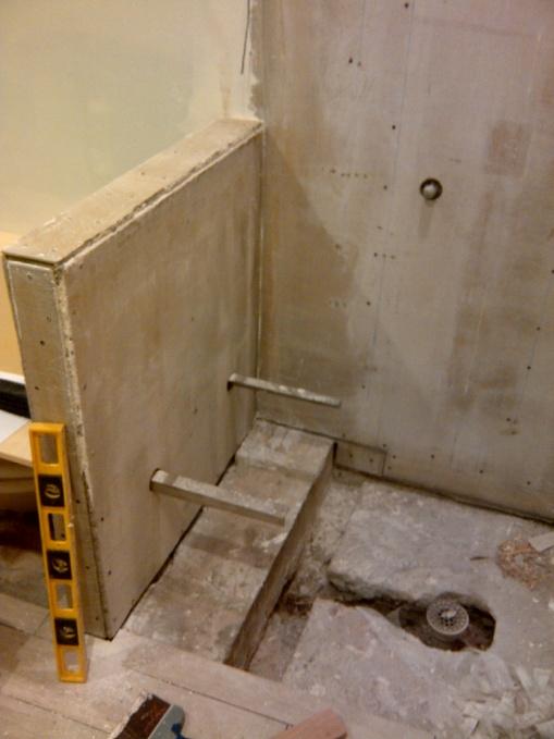 New Shower Durock Kerdi Porcelain Tile Tiling