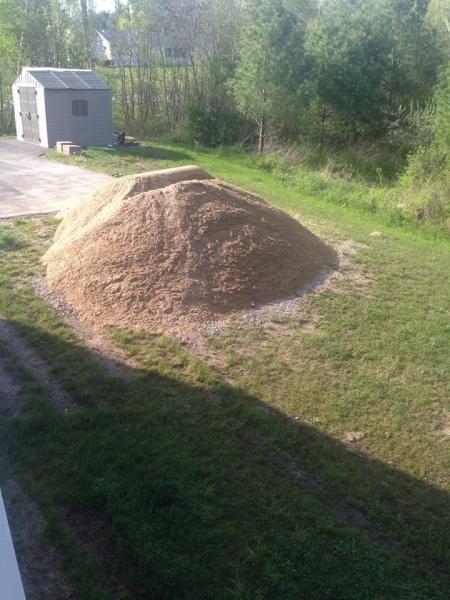 Landscape/Hardscape Project for WET Backyard-sand-delivered.jpg