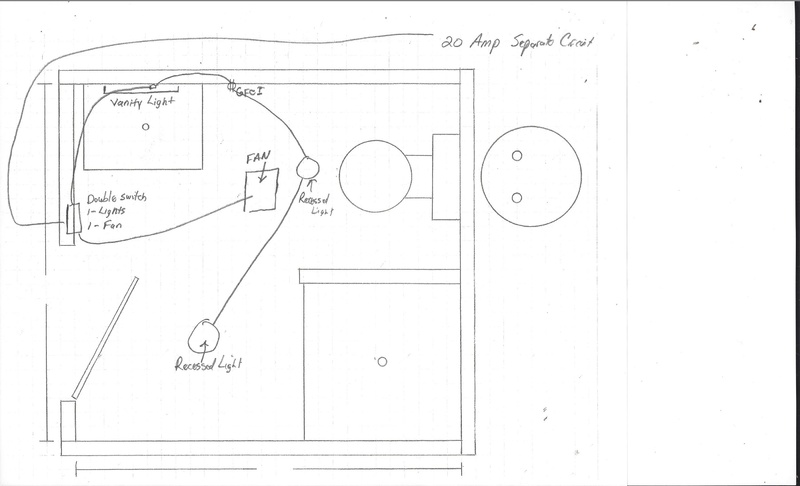 bathroom electrical layout - electrical