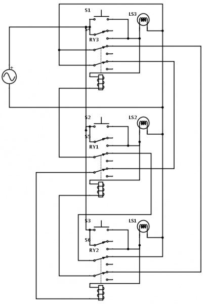 manual button controls for traffic light - electrical
