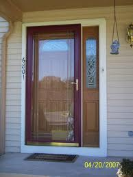 Installing A Screen Door To An Exterior With Sidelights