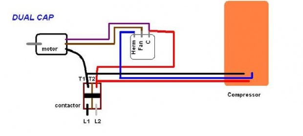 Hvac Capacitor Wiring - Wiring Diagrams Schematics
