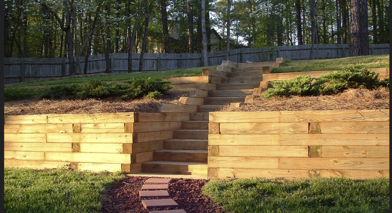 Retaining Wall With Timbers Deadmen Vs Retaining Posts