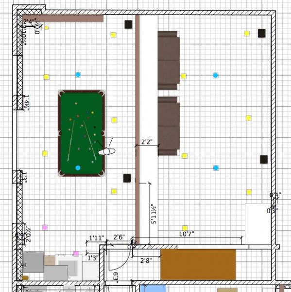 Basement Family Room Lighting Plan